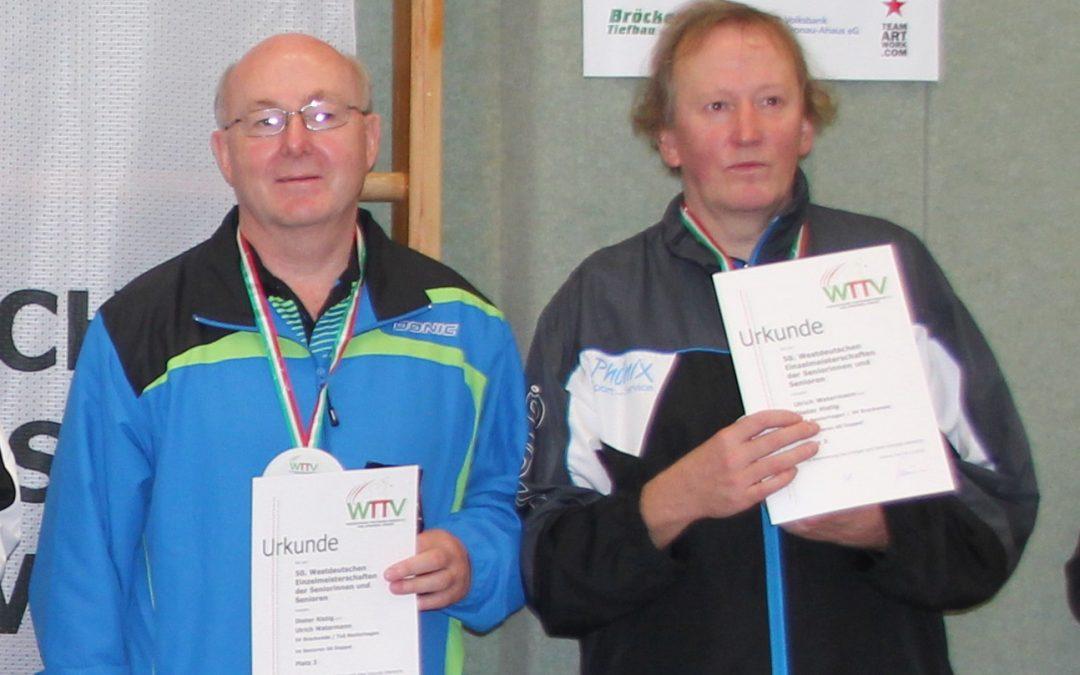Dritter Platz im Doppel der AK60 für Dieter Ristig und Ulrich Watermann