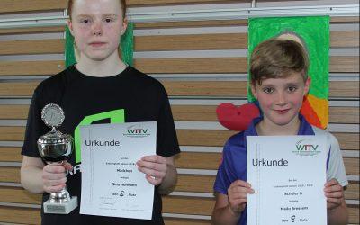 Jugend-Bezirksendranglisten in Hövelhof