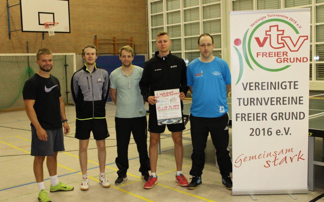 Premiere im Tischtennis Kreis Siegen wirft Schatten voraus: Erstes Volksbank 4er – Tisch – Turnier