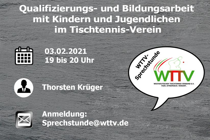 ANMELDEN: WTTV-SPRECHSTUNDE