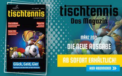 """""""tischtennis"""" IM MÄRZ"""