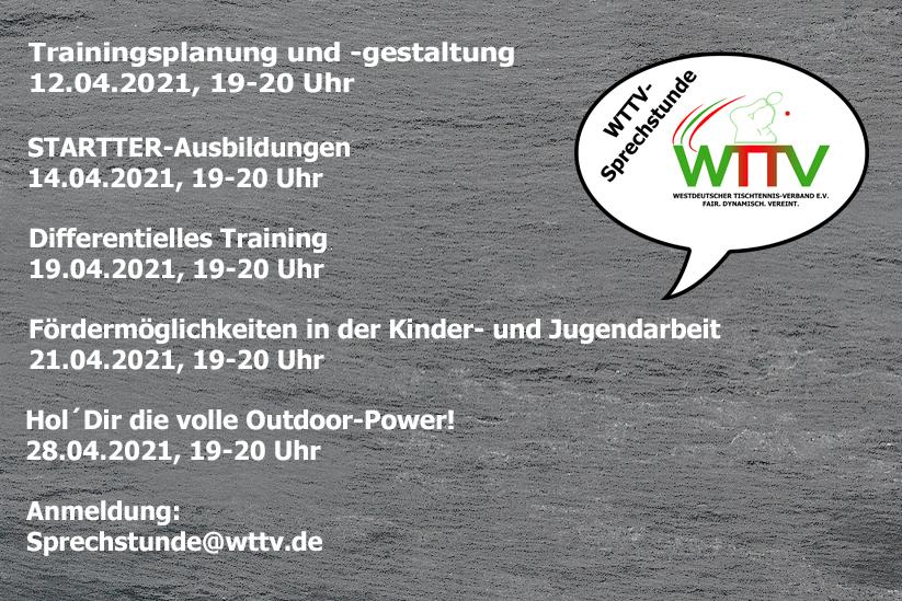 WTTV-SPRECHSTUNDE IM APRIL