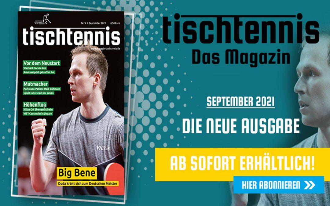"""""""tischtennis"""" im SEPTEMBER"""